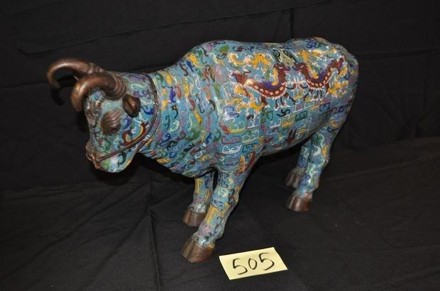 505: Cloisonne Bull