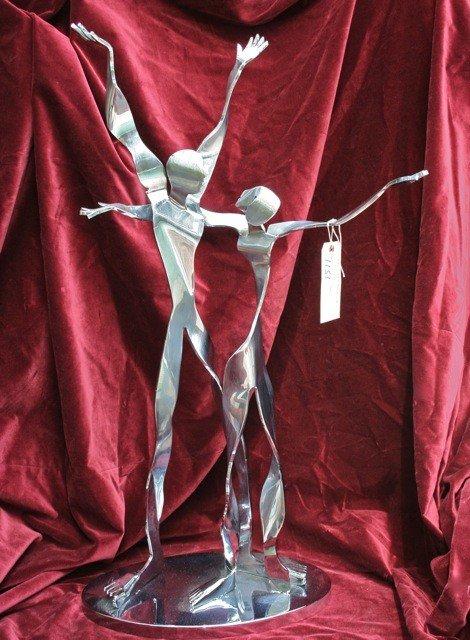 """2: Esther Wertheimer """"Adam and Eve"""" Sculpture"""