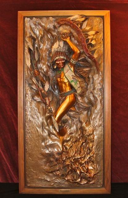 """5: John Coleman """"Man's Prelude to Honor"""" Bronze Relief"""