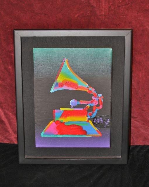 "9: Peter Max Original Oil ""Grammy"""