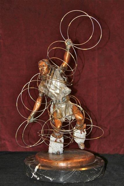 """10: Christopher Pardell Bronze """"Hoop Dancer"""""""