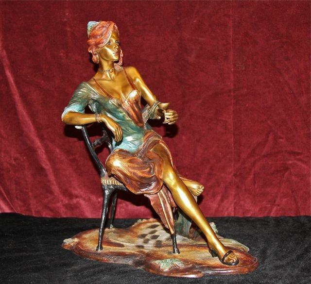 """12: Isaac Maimon Bronze Sculpture """"Negligee"""""""