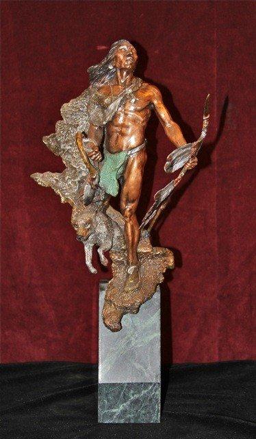 "19: Legends Bronze ""Hunter's Quest"" by Dan Medina"