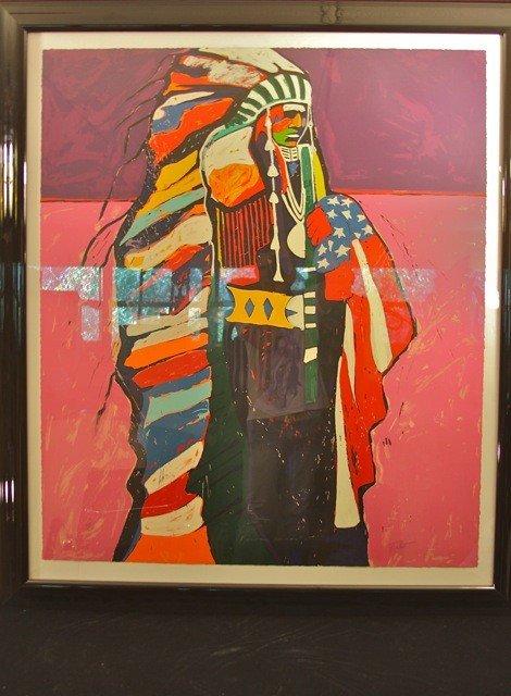 "24: Malcolm Furlow Serigraph ""American Warrior"""