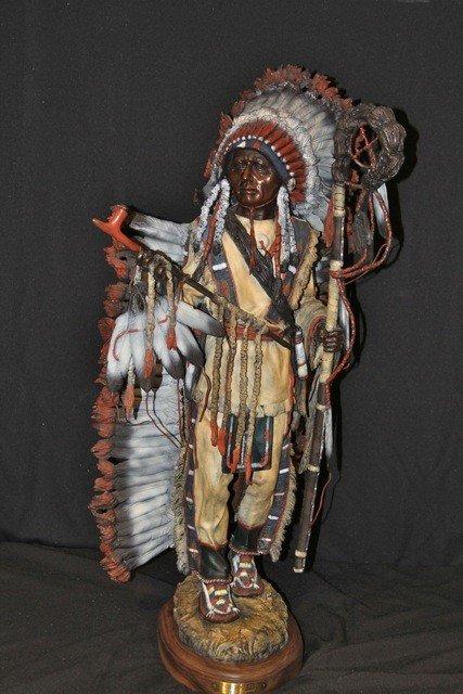 "55: James P. Regimbal Bronze Sculpture ""Peace Maker"""