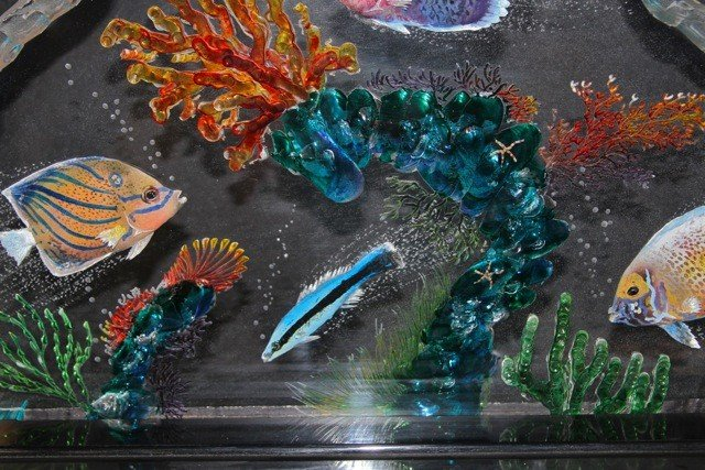 67: Acrylic and Paint Art Sculpture by B. Cohen - 4