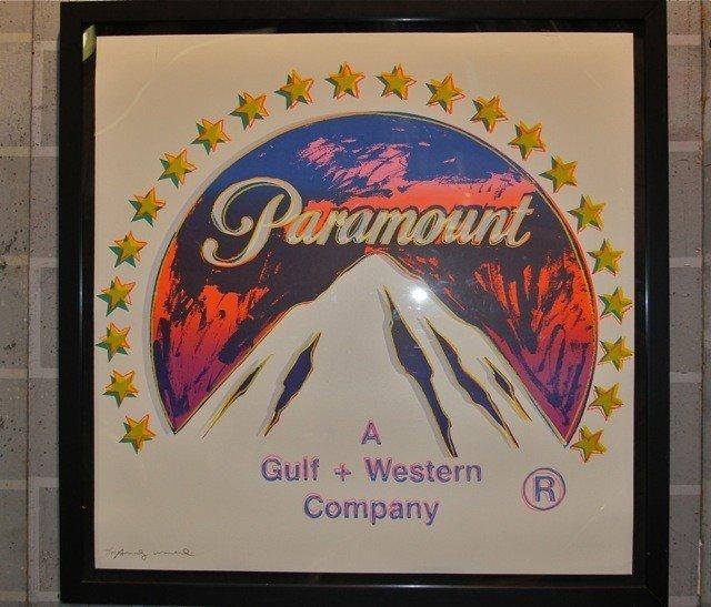 "128: Andy Warhol Screenprint ""Paramount II.352"""