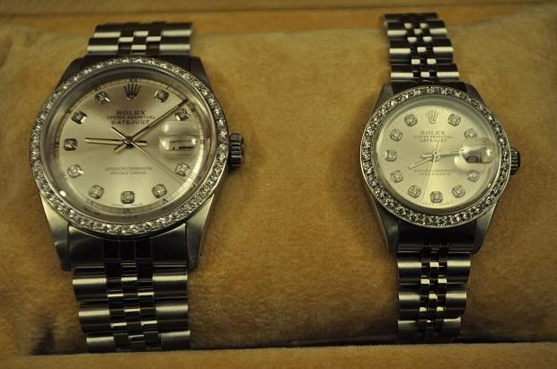 174B: 2 ROLEX OYSTER PERPETUAL MENS AND WOMEN