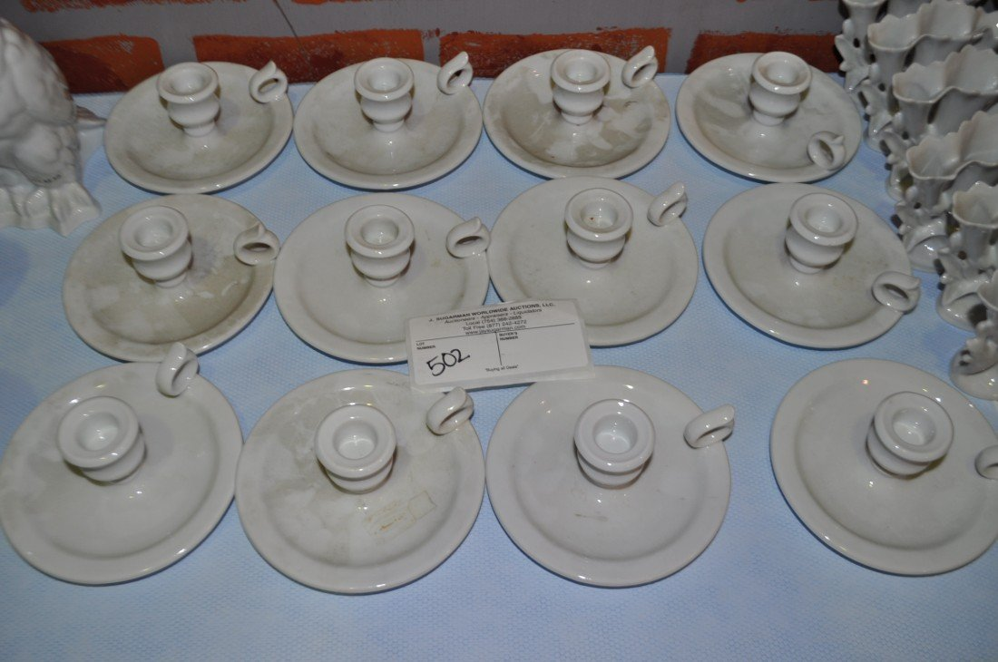 502: 12 Chamart Limoge France Candle Holders