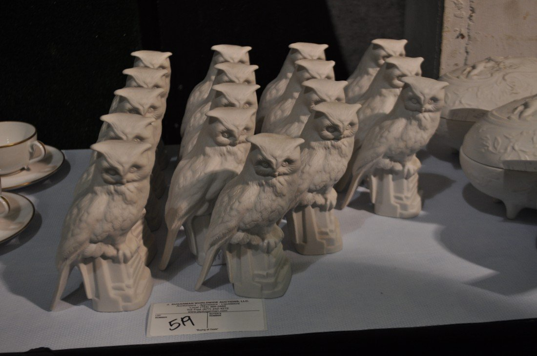 519: 17 Made in France Owl Statues