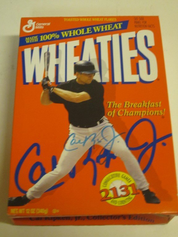 Cal Ripken Signed Wheaties Box