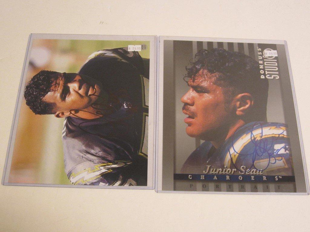 2 Junior Seau Signed Photos