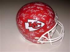 2014 Chiefs Signed FS Helmet