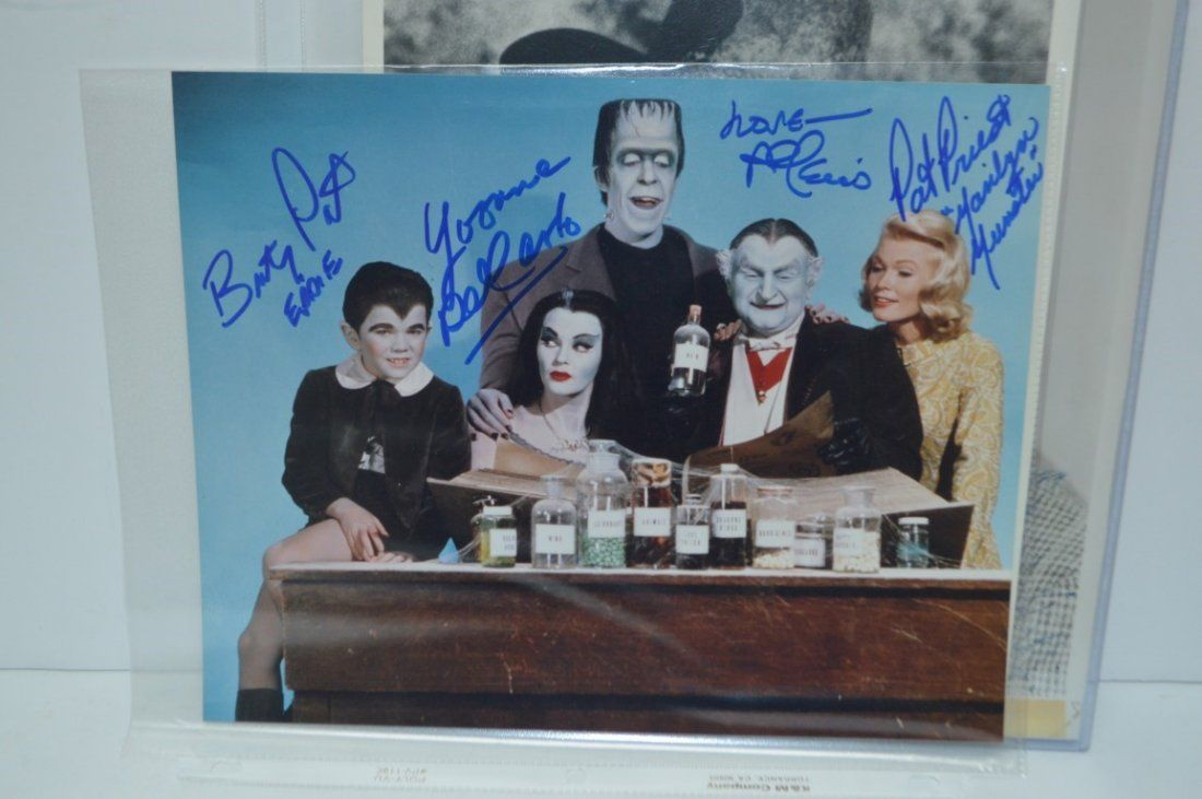 The Munsters Autographed 8x10 signed by all Four