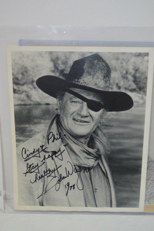 John Wayne Spectacular Genuine Vintage Autograph
