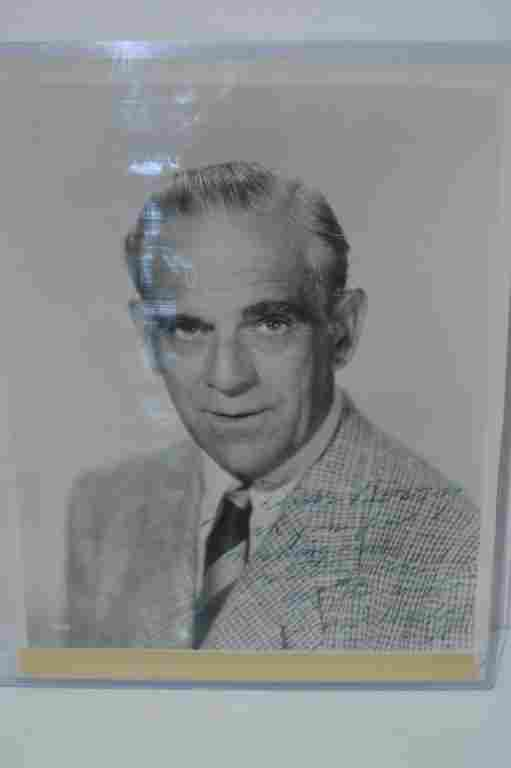 Boris Karloff Autographed Vintage 8x10 Photo