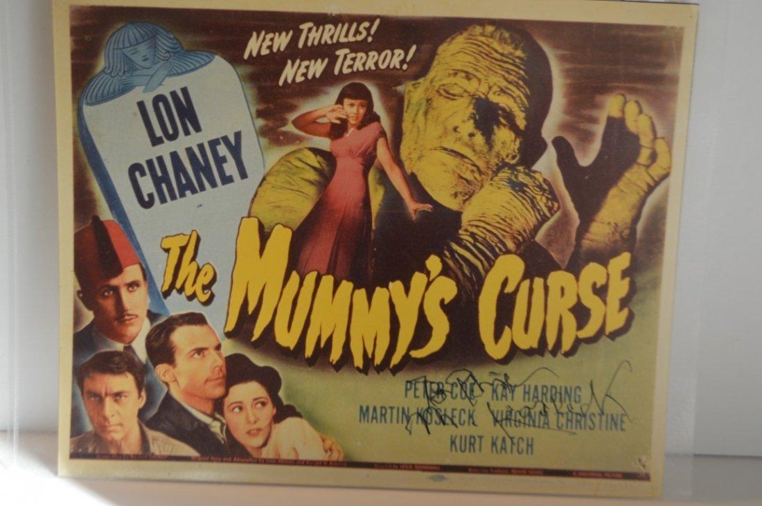 Kurt Katch (The Mummy's Curse) signed Lobby Card
