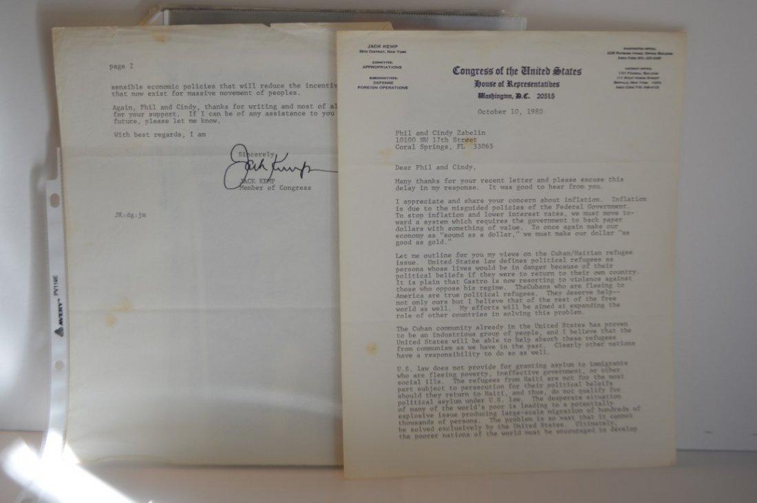 Jack Kemp (Member of Congress) signed Letter