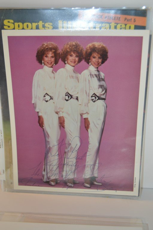 """Hand Signed """"McGuire Sisters"""" 8x10 Photo"""