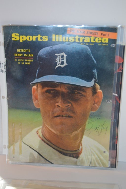 Denny McLain Signed Sports Illustrated cover