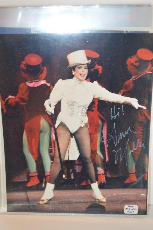 Ann Miller Autographed Color 8x10