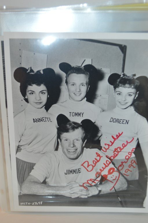"Doreen Tracey ""Mouseketeer"" signed photo"