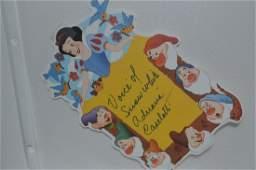 Adriana Caselotti Snow White signed Paper