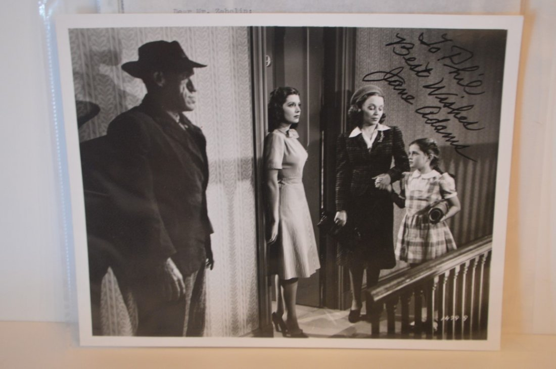 "Jane ""Poni"" Adams Autographed 8x10 photo"