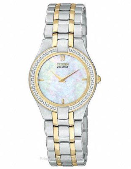 Citizen Women's Eco-Drive MOP Dial Diamond Watch