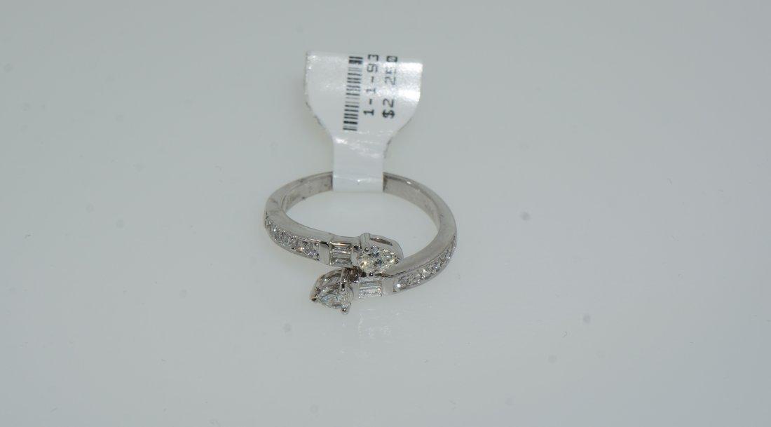 Ladies Pear Cut and Baguette Diamond Ring