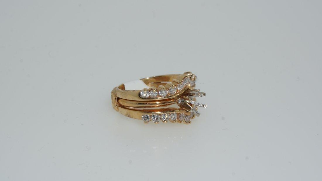 Ladies Round Cut Diamond Ring - 2