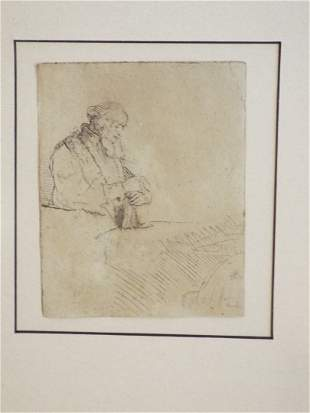 "Rembrandt van Rijn ""Old Man in Meditation"""