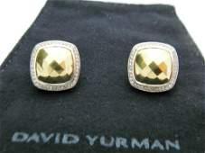 Womens David Yurman 18k Yellow Gold  Silver Diamond