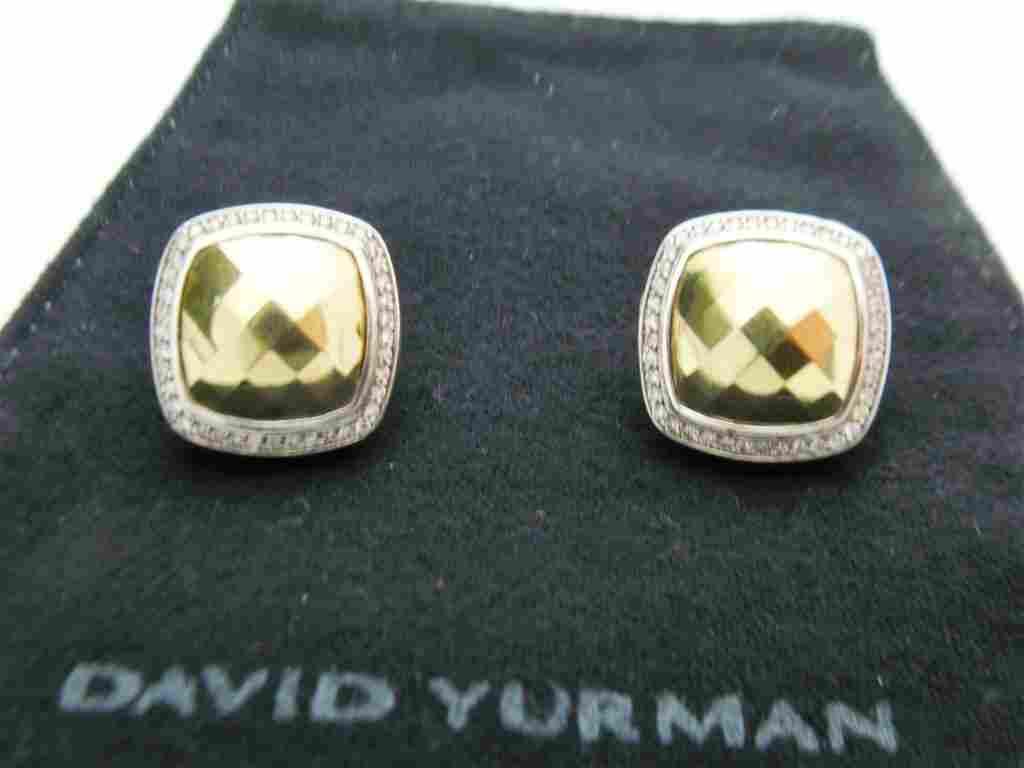 Womens David Yurman 18k Yellow Gold & Silver Diamond