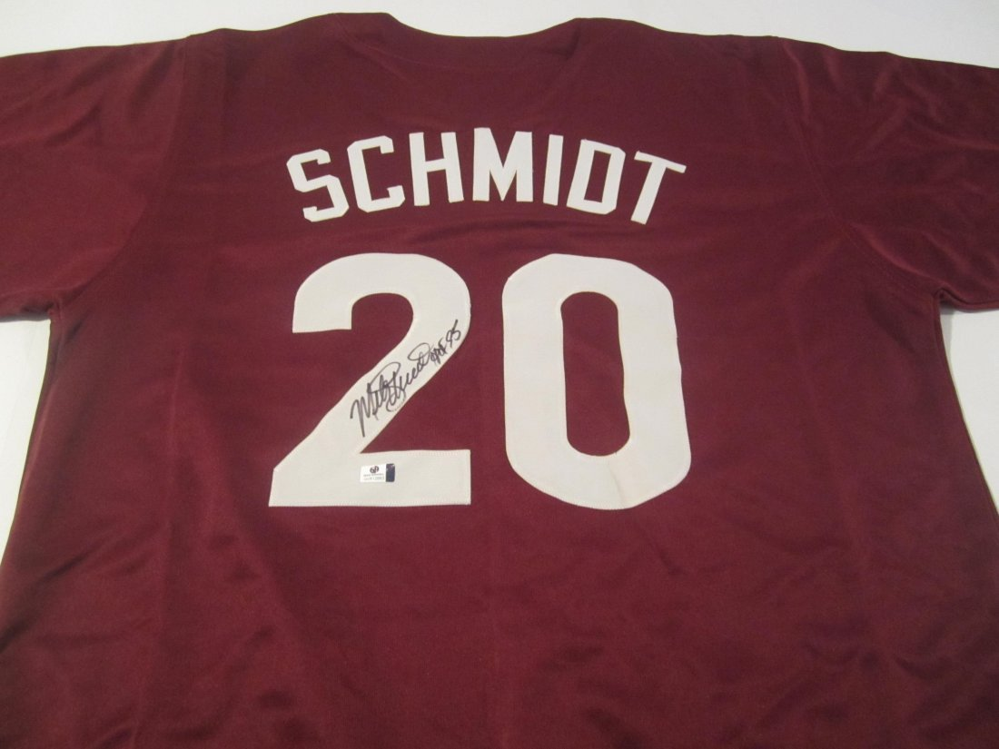 Mike Schmidt signed Jersey