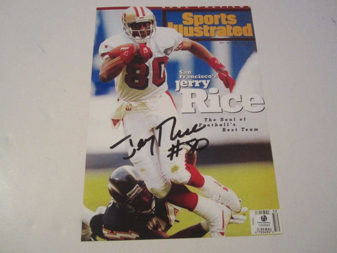 Jerry Rice Signed Photo