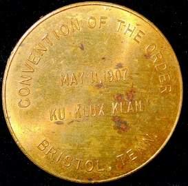 Round CopperKKK - Ku Klux Klan -  Coin