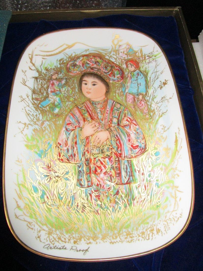 Edna Hibel - Caro Kun Artist proof Plate