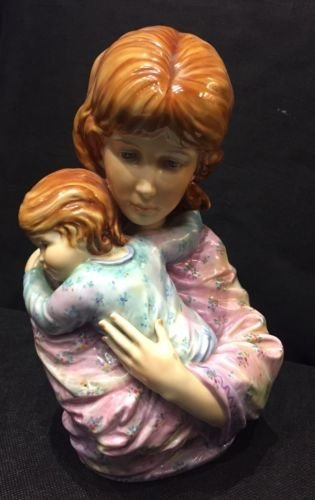 porcelain statue Maria & child  with stand