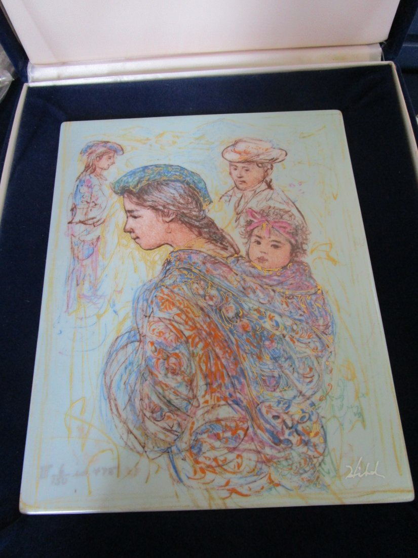 Porcelain plaque -Guatemala mother & baby - limited