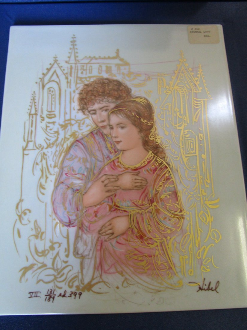 Porcelain plaque -limited edition with box -midsized