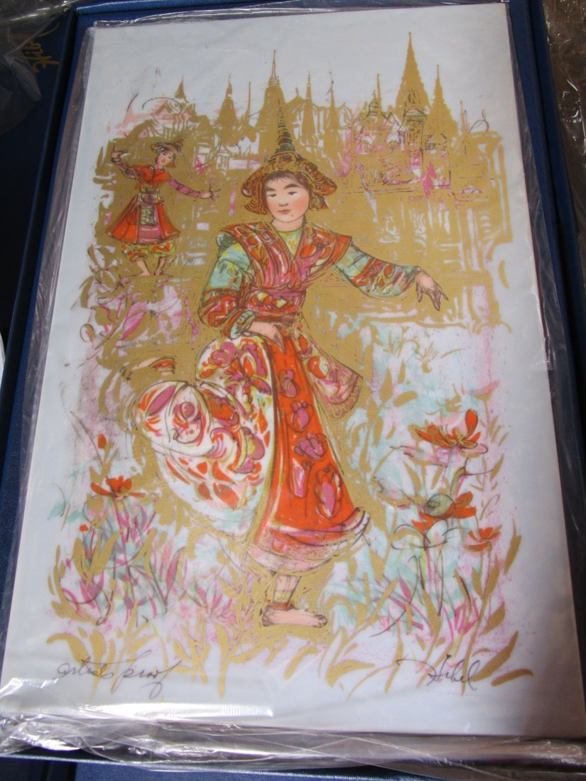 Thai Dancers -large Porcelain plaque– artist proof -