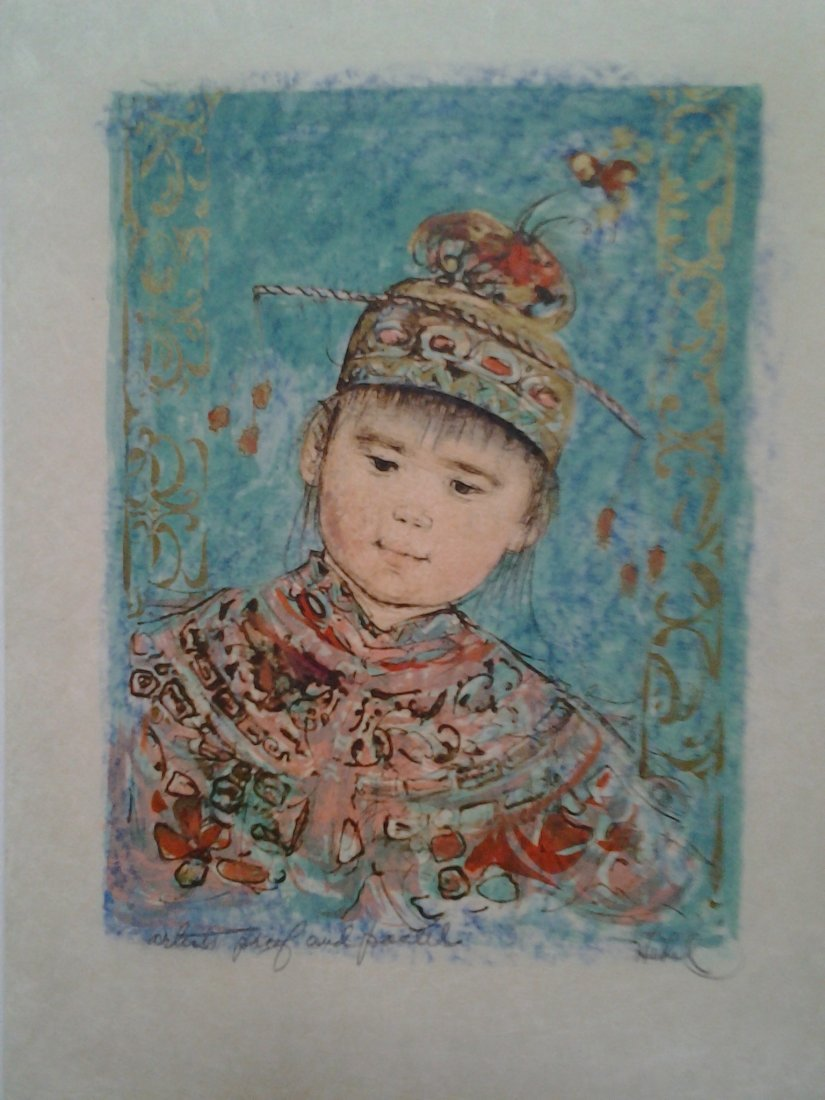 Young Mandarin -artist proof pencil signed