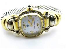 Designer David Yurman 18k Yellow Gold  Silver Diamond