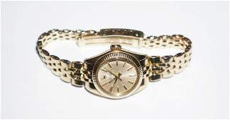 Rolex Ladies Oyster Perpetual 14K Gold Watch