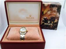 Lady's Vintage Rolex Two Tone Oyster Perpetual Datejust