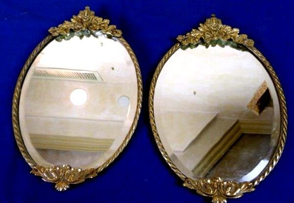 Pair Of 1920s Single Branch Candle Light Sconces Backed