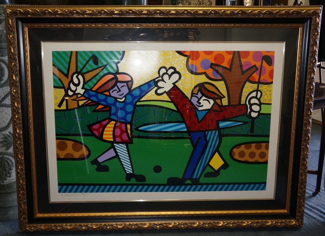 Romero Britto Framed Limited Edition Lithograph
