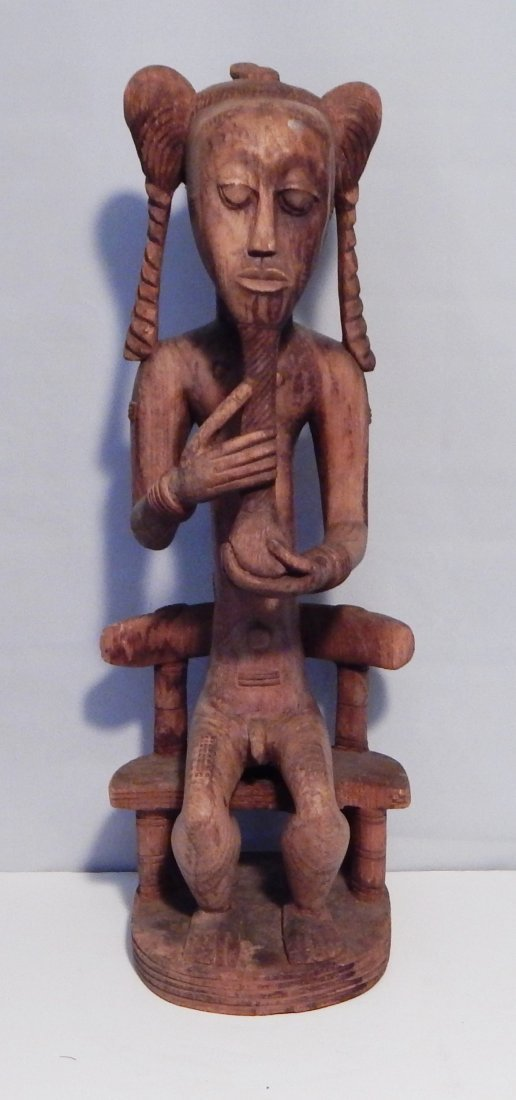 Senufo Seated Figure Carving of a Male - Southern Mali,