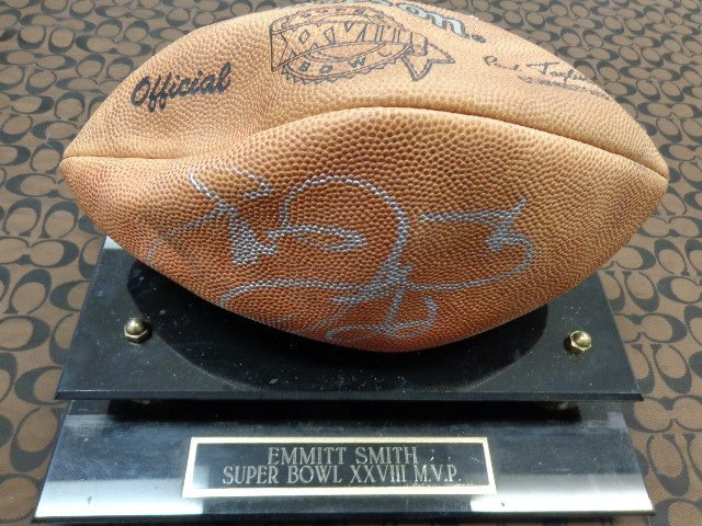 """Emmit Smith"" Autographed Official Super Bowl XXVIII"
